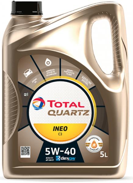 Motorový olej 5W-40 Total Quartz INEO C3 - 5 L - Oleje 5W-40