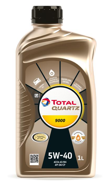 Motorový olej 5W-40 Total Quartz 9000 - 1 L - Oleje 5W-40