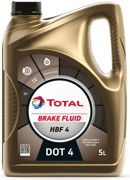 Brzdová kapalina DOT 4 Total HBF 4 - 5 L - Brzdové kapaliny, aditiva