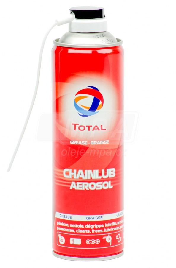 Olej na řetězy Total CHAINLUB sprej - 500 ML - Brzdové kapaliny, aditiva