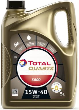 Motorový olej 15W-40 Total Quartz 5000 - 5 L - Oleje 15W-40