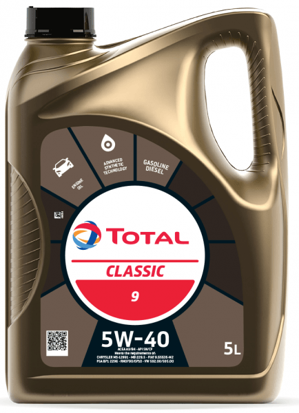 Motorový olej 5W-40 Total Classic 9 - 5 L