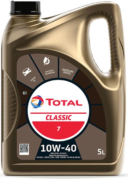 Motorový olej 10W-40 Total Classic 7 - 5 L - Oleje 10W-40