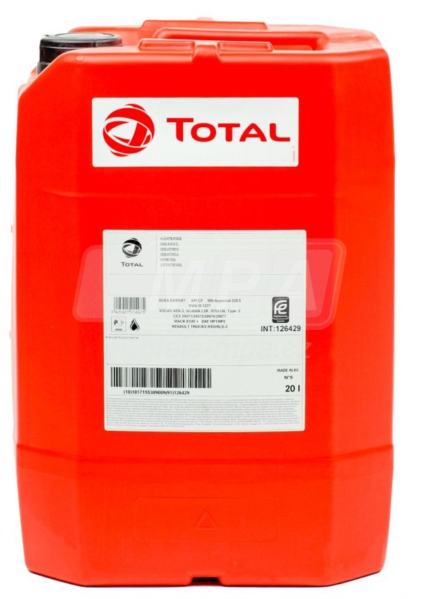 Průmyslový olej pro pneumatické nářadí Total Pneuma 100 - 20 L