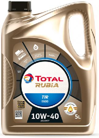 Motorový olej 10W-40 Total Rubia TIR 8600 - 5 L - 10W-40