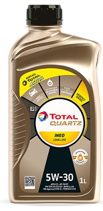 Motorový olej 5W-30 Total Quartz INEO LONG LIFE - 1 L - Oleje 5W-30