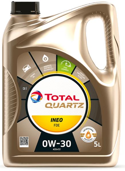 Motorový olej 0W-30 Total Quartz INEO FDE - 5 L