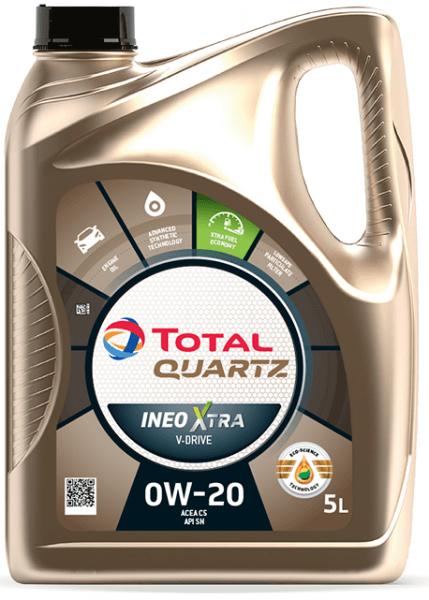 Motorový olej 0W-20 Total Quartz INEO Xtra V-DRIVE - 5 L - Oleje 0W-20
