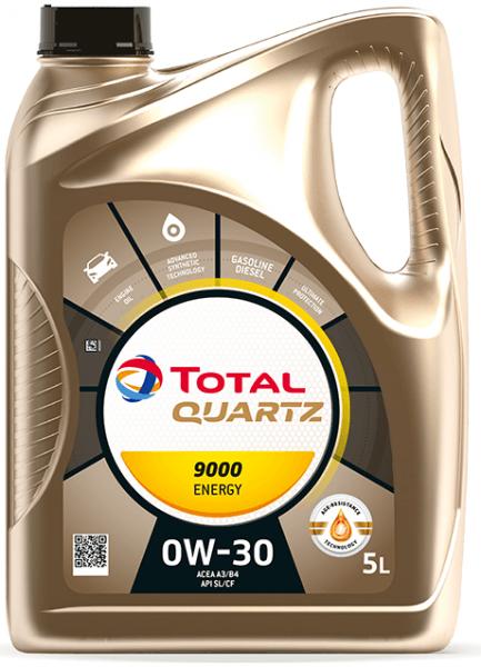 Motorový olej 0W-30 Total Quartz ENERGY 9000 - 5 L - Oleje 0W-30