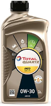 Motorový olej 0W-30 Total Quartz INEO LONG LIFE - 1 L - Oleje 0W-30