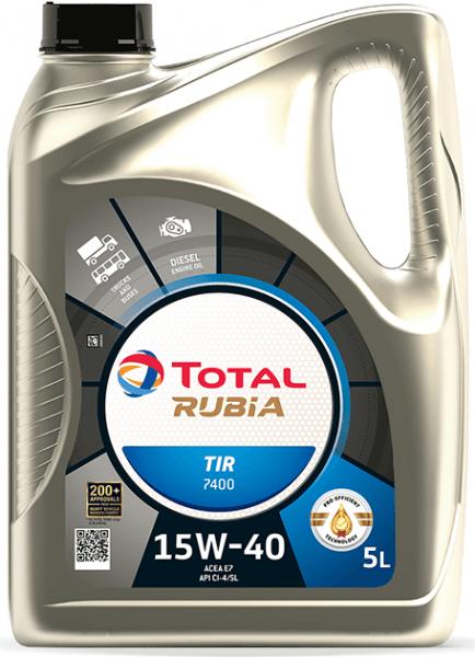 Motorový olej 15W-40 SHPD Total Rubia TIR 7400 - 5 L - 15W-40