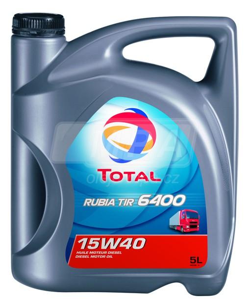 Motorový olej 15W-40 SHPD Total Rubia TIR 6400 - 5 L - Oleje 15W-40