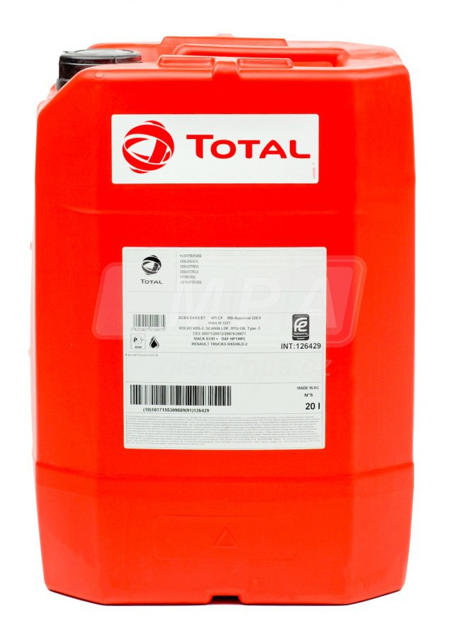 Motorový olej 15W-40 SHPD Total Rubia TIR 6400 - 20 L - Oleje 15W-40