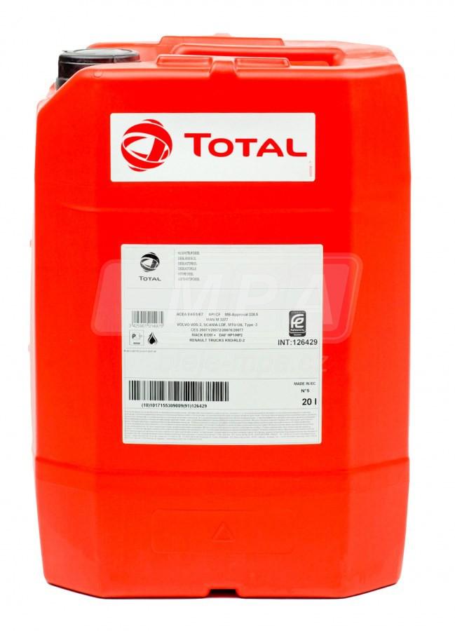 Motorový olej 10W Total Rubia S - 20 L - Jednostupňové