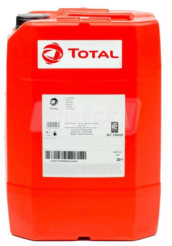 Motorový olej 20W-20 Total Rubia S - 20 L - Jednostupňové